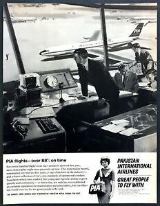 1966-PIA-Pakistan-International-Airlines-Stewardess-photo-ATC-vintage-print-ad