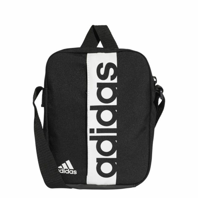 Adidas Black Linear Performance Messenger Shoulder Mini Crossbody Bag  Organizer 6f5385ca5e7ad