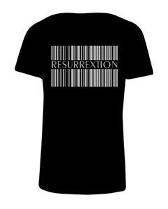T-Shirt-Hip-Hop-logo-Resurrextion-codice-a-barre