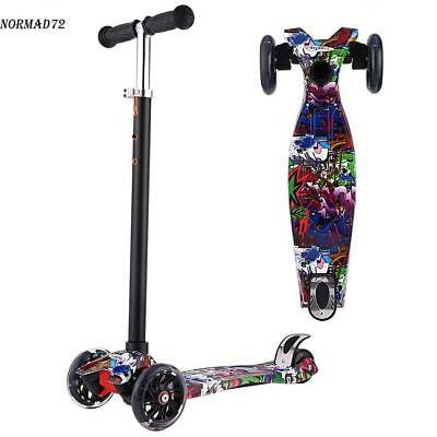 Kids Scooter for Age 3-8 Adjustable Kick Scooters Girls Boys 4LED Wheel Flashing