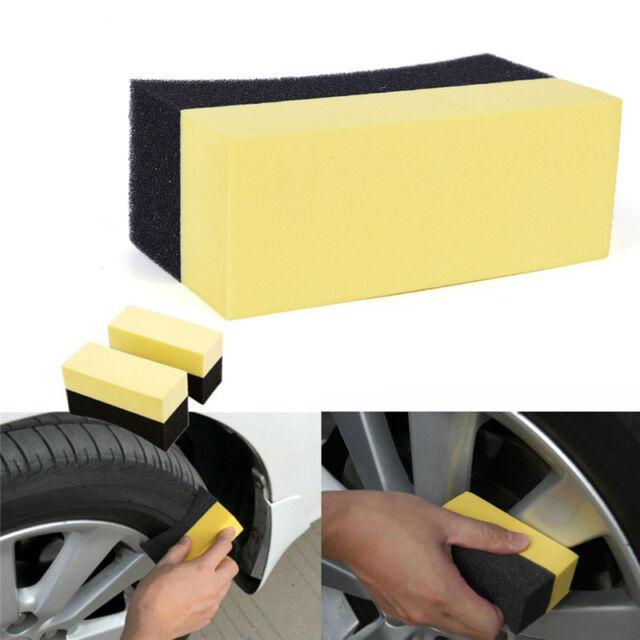 Auto Wheels Brush Sponge Tools Applicator Tire Hub Cleaning Waxing Polishing -CA
