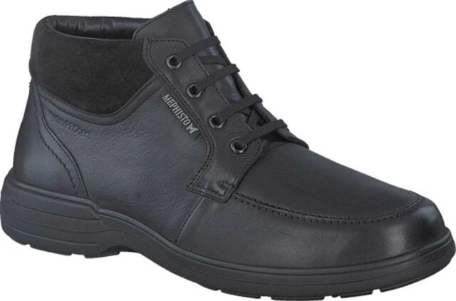 Mephisto Darwin Moc Toe Boot (Men's) in Black Suede/Leather - NEW