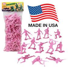 TimMee Processed Plastic Army Men: 100 PINK Platoon Tim Mee Toy Soldier Figures