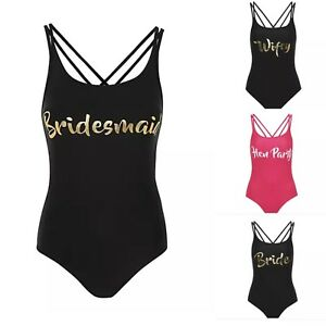 5e5f82c203 Image is loading Bride-Hen-Party-Swimsuit-Swimming-Wedding-Costume-Swimwear-