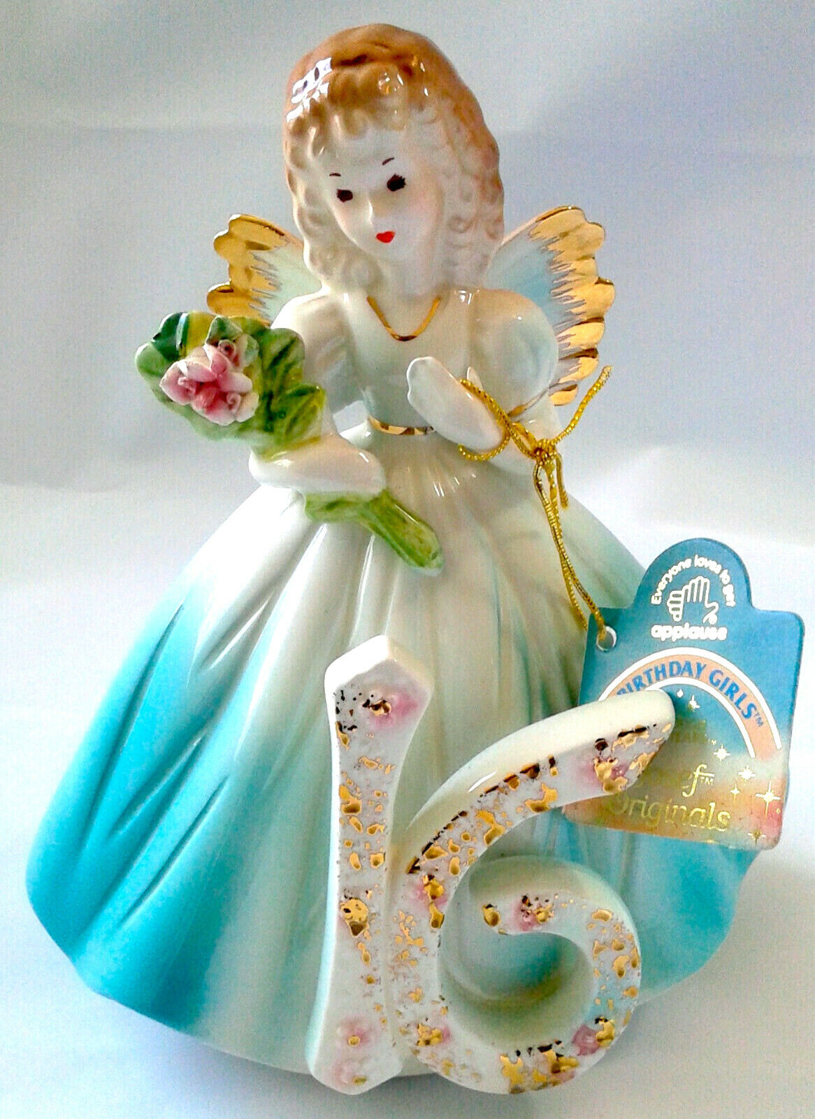 Vintage Josef original 1st birthday angel