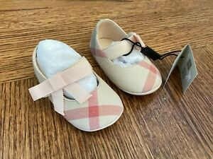 NEW-Auth-Burberry-Infant-Baby-Girls-Sandals-Shoes-Pale-Classic-Check-17-195