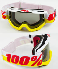 100% PERCENT ACCURI MX MOTOCROSS GOGGLES IN & OUT with LIGHT SMOKE TINT LENS bmx