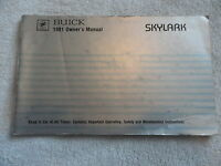 1981 Buick Skylark Owners Manual