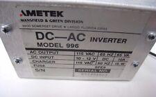 Ametek Model 996 Portable Generator Dc Ac Inverter For Use On Ametek Stroboscope