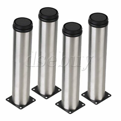 4pcs 60 x 75 x 55mm Black Trapezoid Furniture Legs Feet for Sofa Bed Table