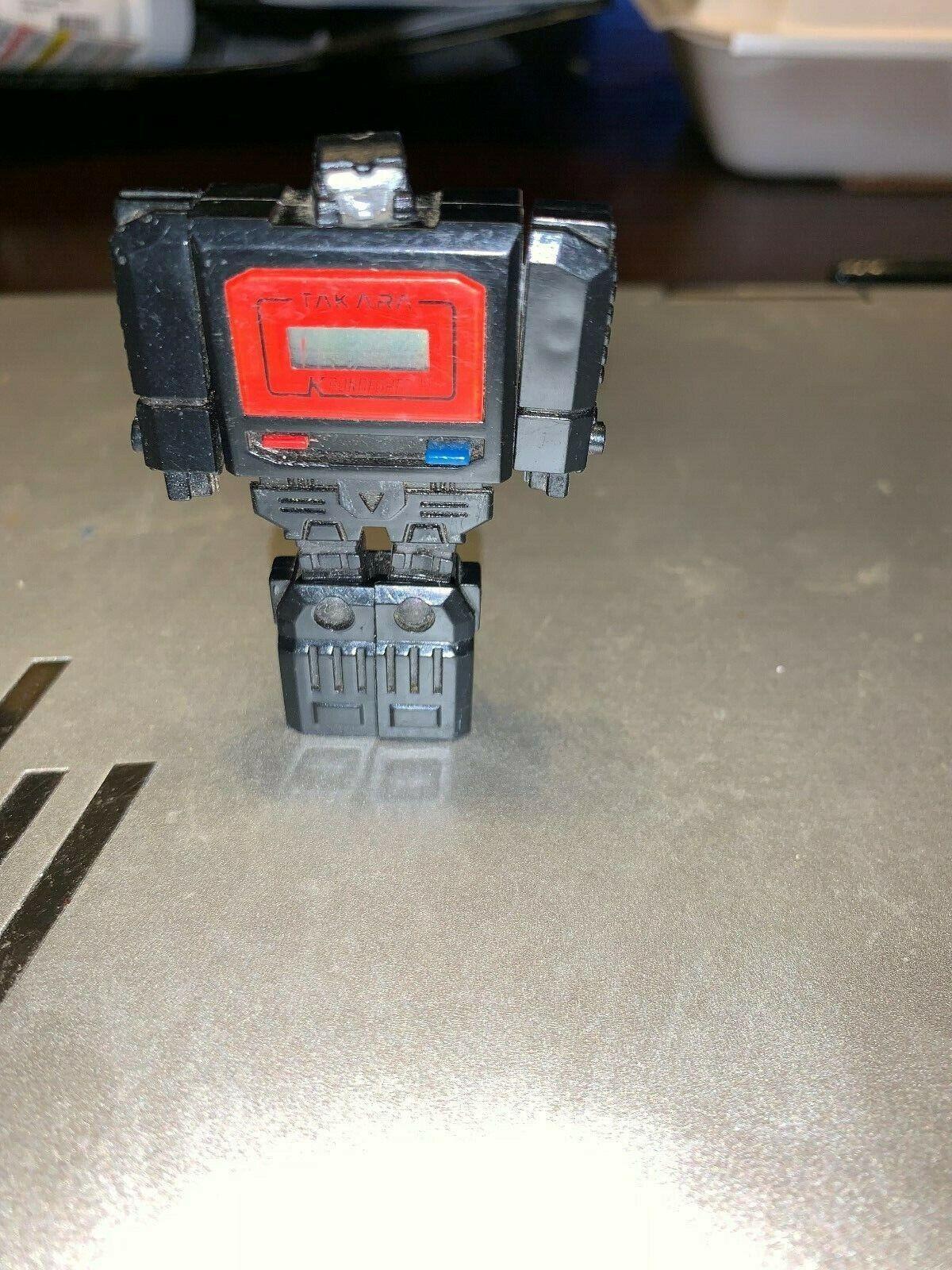 1983 Negro Reloj Takara Kronoform ROBOT Pre-Transformers G1 Diaclone