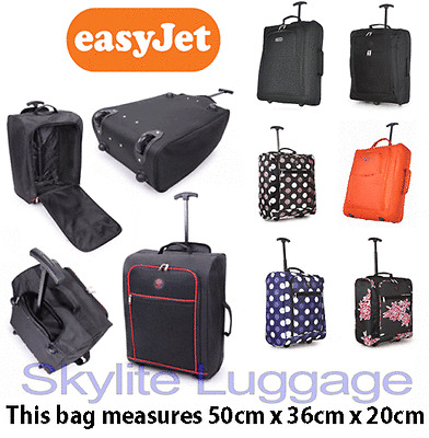50x40x20 EasyJet Trolley Cabin Approved Wheeled Case Hand Luggage Flight Bag NEW
