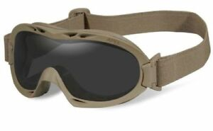New-Wiley-X-R-8052T-Grey-Clear-Nerve-APEL-Safety-Goggles-w-Tan-Frame