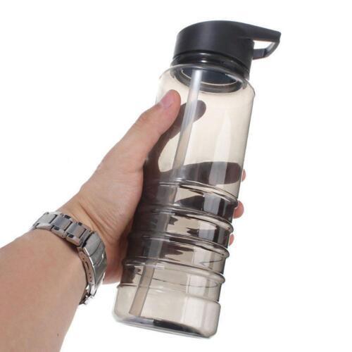Flip Straw Drink Sport Hydration Water Bottle Cycling Hiking BPA Free Durable JD