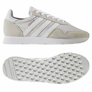 2f96e8b4c22 ... Adidas-Originaux-HOMME-Havre-Chaussures-Blanches-Baskets-Retro-