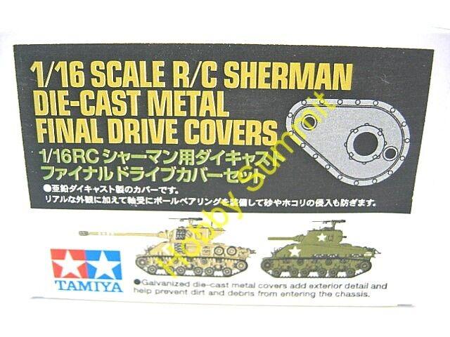 Tamiya 1/16 R/C Sherman DIECAST METAL FINAL DRIVE COVERS M4 M51 Super Tank 56014