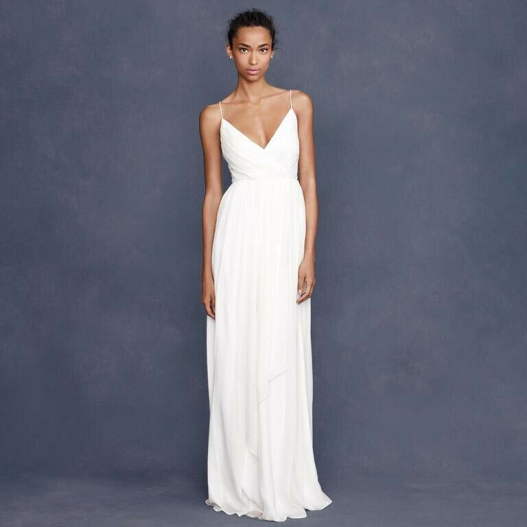 J crew Wedding Dress Gown Angelique Ivory Size 6 mint condition