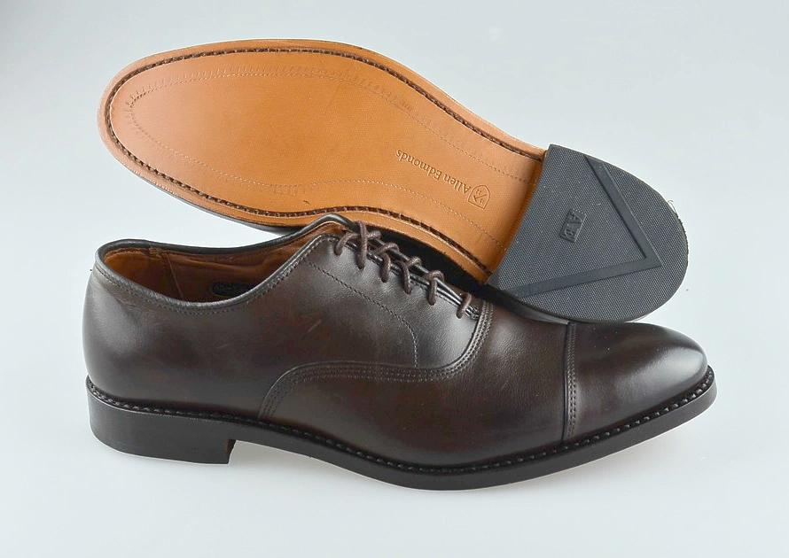 Men's ALLEN EDMONDS 'Park Ave' Marronee Leather Cap Toe Oxfords Dimensione US 8.5 - B