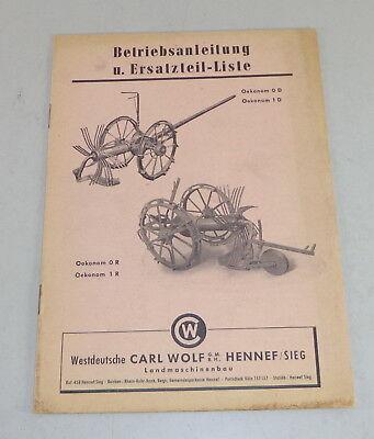 0d/1d Catálogo De Piezas Wolf Roder Oekonom 0r/1r Generous Manual De Instrucciones