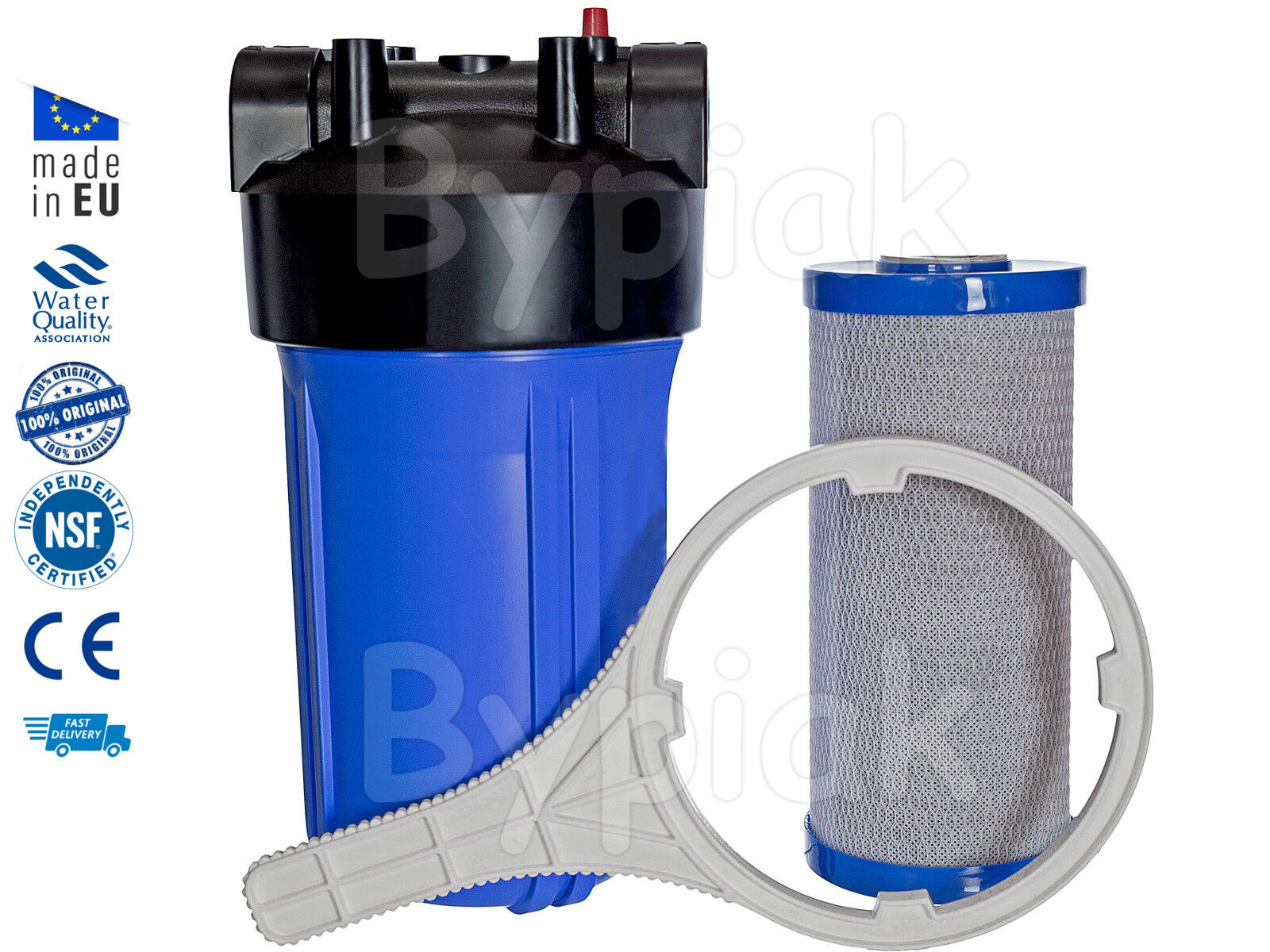 Whole house home water filter full fFaible 10  jumbo BB big bleu chlorine removal