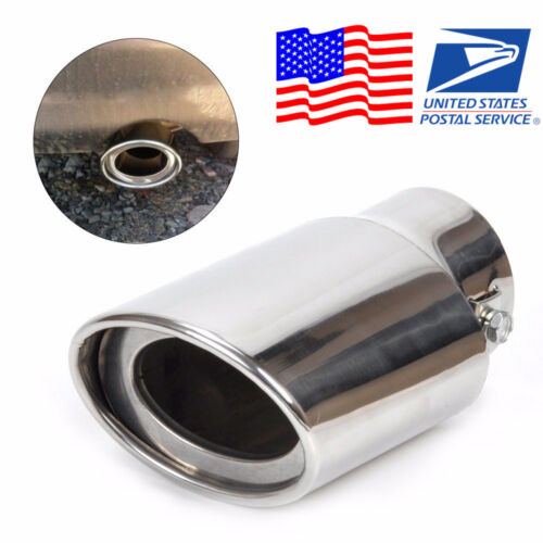 Car EXHAUST Tail Muffler Tip Pipe Chrome Round pipe diameter For 1.8-2.2 T US