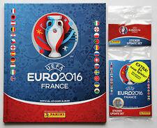 PANINI EURO 2016-Copertina rigida deluxe album + aggiornamento Multipack 84 Adesivi