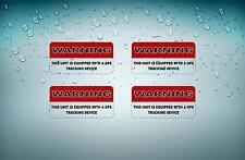 4x Sticker gps alarm system warning decal anti theft car vehicle vinyl security