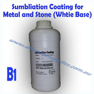 Details about Dye Sublimation ink Coating 1L for Metal and Stone heat press  B1 (White base)