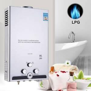 10 L LPG Propangas Warmwasserbereiter Durchlauferhitzer Wasserspeicher Boiler