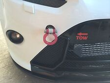 Rojo Ford Focus rs/st Mk2 Aluminio Racing Sport Tow Hook Anillo Kit