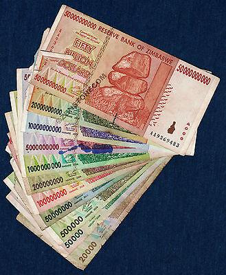 30 x 100 Million Zimbabwe Dollars Banknotes AA 2008 30PCS Paper Money Collection