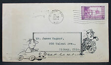 Police Chase Illustrated Cover FDC Green Bay 1934 USA Ersttagsbrief (H-6378