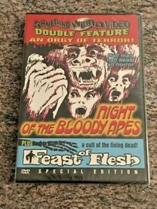 Night-of-the-Bloody-Apes-Feast-of-Flesh-DVD-Something-Weird-Video-NEW