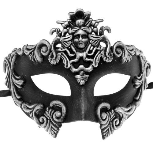 Silver Greek Venetian Masquerade Mask Roman Warrior Venetian Masquerade Mask