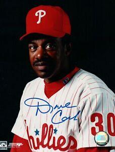 Dave-Cash-Signed-8X10-Photo-Autograph-Philadelphia-Phillies-Two-Line-Auto-w-COA