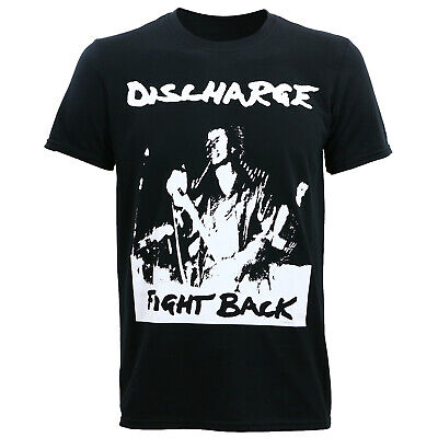 Authentic DISCHARGE Band Why Album Cover Slim Fit T-Shirt S M L XL 2XL NEW