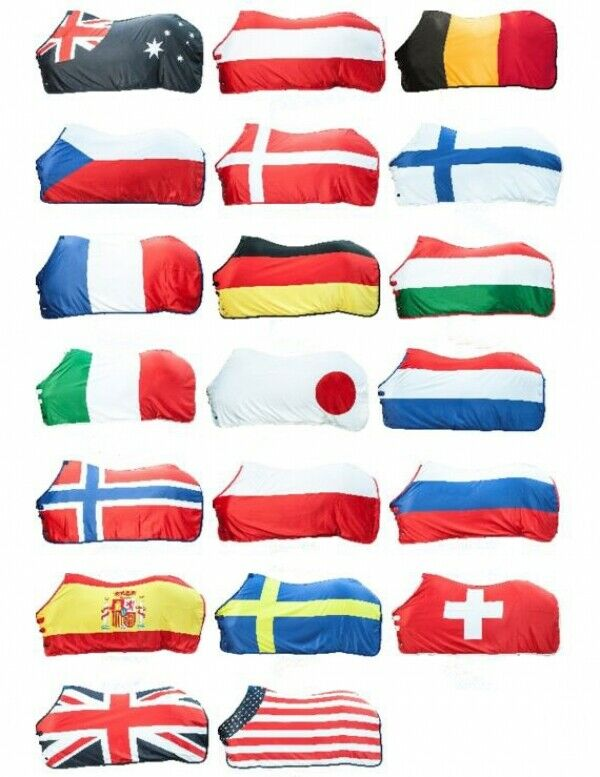 Abschwitzdecke FLAG HKM FLAG vari paesi e diuominiioni nuovo