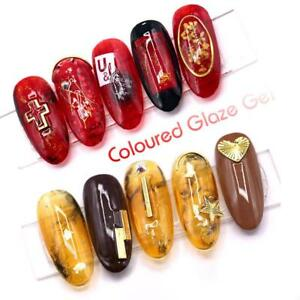 Gel Nail Translucent Amber Coloured Glaze Enamel Colors Nail Art ...
