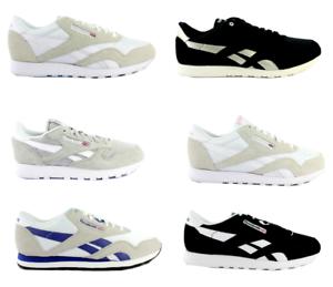 Reebok-Classic-Nylon-Daim-Cuir-Femmes-Hommes-Chaussures-De-Sport-Sneaker