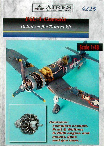 Aires 1  48 F4U -1 Corsair Detail Set för Tamiya kit