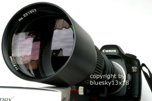 Teleobjetivo de 500//1000 mm para Canon EOS 250d 800d 4000d 1300d 1200d 750d 2000d.