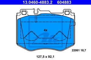 Scheibenbremse für Bremsanlage Vorderachse ATE 13.0460-4883.2 Bremsbelagsatz