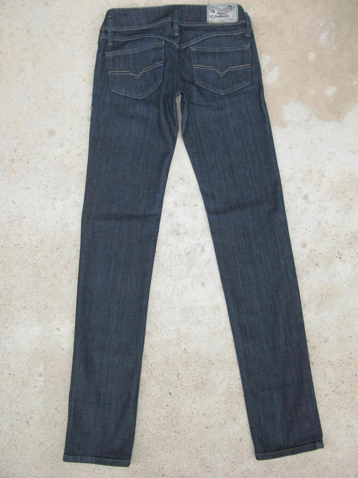 Diesel Womens Matic Skinny Jeans Sz 26 Low Slim Dark Wash 8WZ Stretch