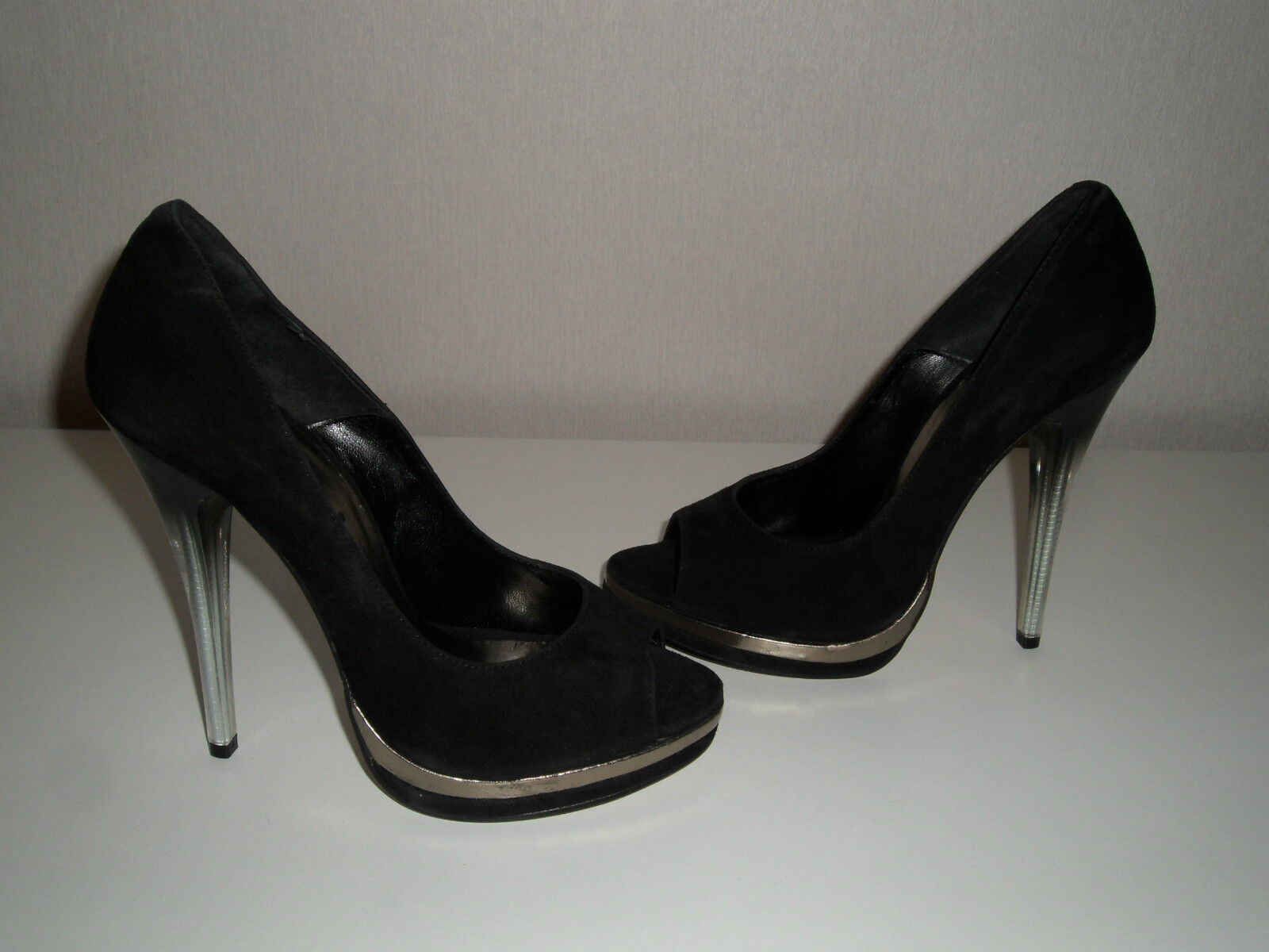 Chillany Pumps Gr. 38 40 Peeptoes High Heels schwarz NEU
