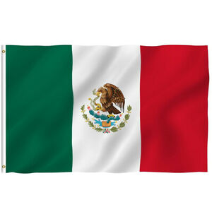 New-3-x5-Polyester-MEXICO-FLAG-Mexican-Country-Soccer-Outdoor-Banner-Grommets