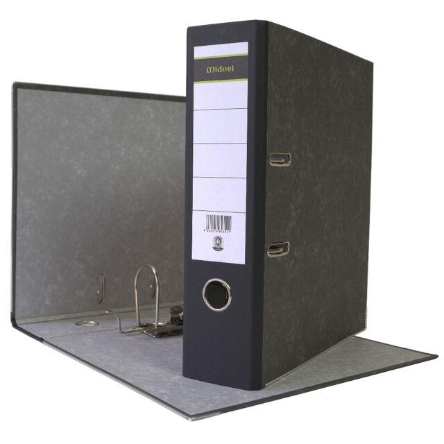 Bürobedarf 80 mm Leitz Wolkenmarmor-Ordner A4 schwarz Bürobedarf Aktenordner