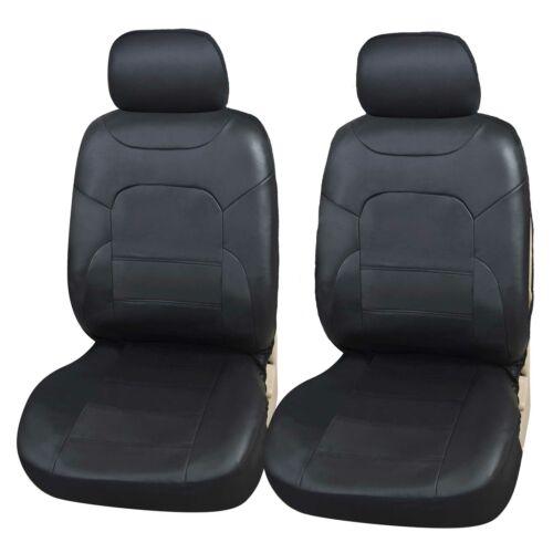 Coprisedili Auto Anteriore Eco-Pelle Universale Nero Copri-sedile