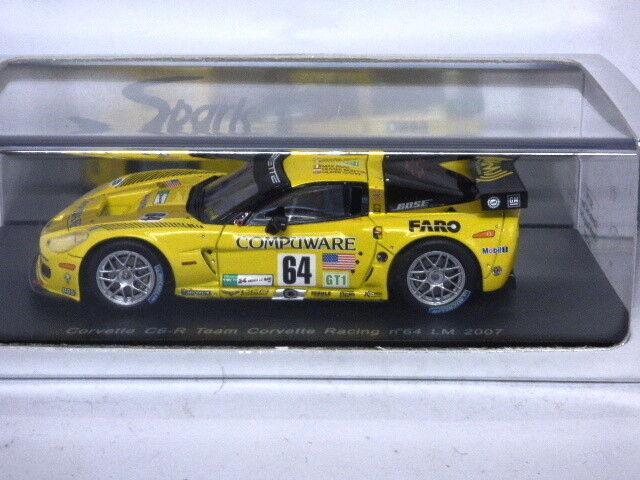echa un vistazo a los más baratos Spark Corvette C6-R Le Mans 2007 Beretta No.64 Gavin Gavin Gavin Papis Ref  S0179  diseño simple y generoso