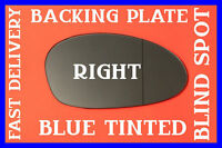 BMW Z4 2002-2008 DOOR MIRROR GLASS BLUE BLIND SPOT+ BACK PLATE RIGHT