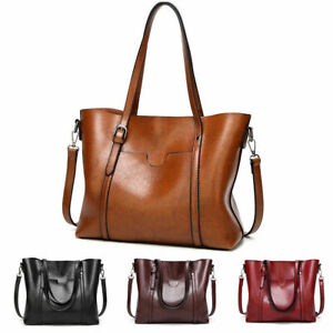 Women-Large-Retro-Handbag-Leather-Shopping-Bag-Crossbody-Shoulder-Tote-Satchel